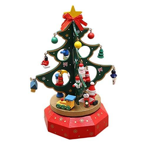 Einsgut Weihnachten Spieluhr Hölzerner Weihnachtsbaum drehendes Spieluhr Weihnachtsbaum Musik-Spielzeug Weihnachtsdekoration