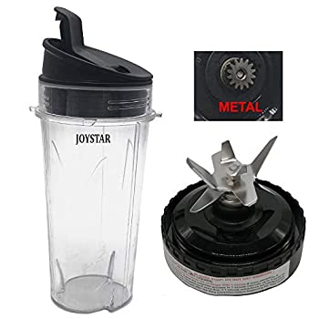 Replacement Bottom Pro extractor Blade Assembly with cup &lid set Compatible with Nutri Ninja Ultima Kitchen System blender BL810QSL 30/BL830CB 30 /BL810QON 30/BL810 30/BL820 30/BL830 30