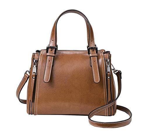 Heshe Women's Leather Shoulder Handbags Hobo Bag Bucket Bags Designer Satchel Ladies...