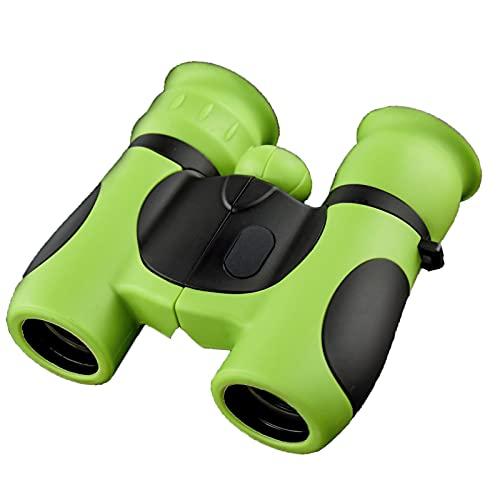 Binoculares Impermeables Infantiles Alta ampliación 8x21 Telescopio Compacto liviano de Juguete de Regalo para niños y niñas,Verde