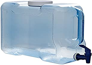 3 Gallon 11.36 Liter Long Refrigerator Bottle Drinking Water Dispenser w/Faucet BPA Free - Blue - 100mm Screw Cap 15.625