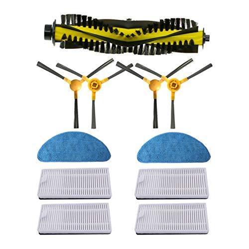 furong Spazzola Laterale + Filtro + MOP + Pennello a rulli Adatto per Neatsvor X500 / X600 Robot Aspirapolvere Accessory Kit di Ricambio (Color : B)