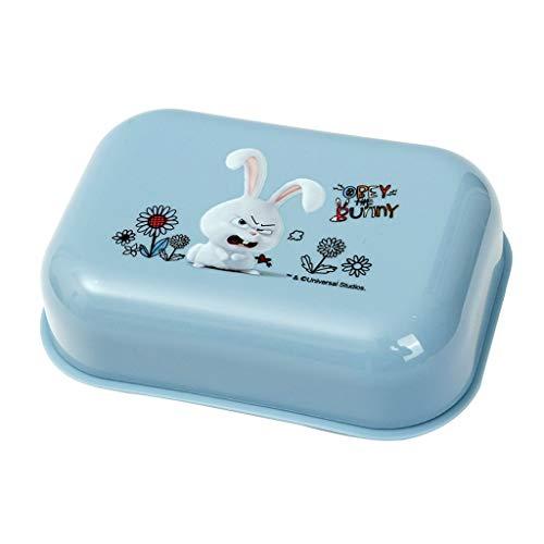 Jixi Porte Savon Haute qualité Cute Animal avec du Savon de Vaisselle Couvercle Boîte Porte-Case antipoussière Douche Accueil Accessoires de Bain Set