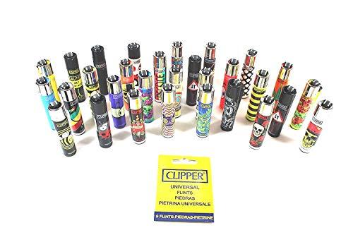 CLIPPER Wundertüten Überraschungsmix Collector Mix Clipper Feuerzeuge plus gratis Zugaben (5 Clipper + gratis Clipper Feuersteine)