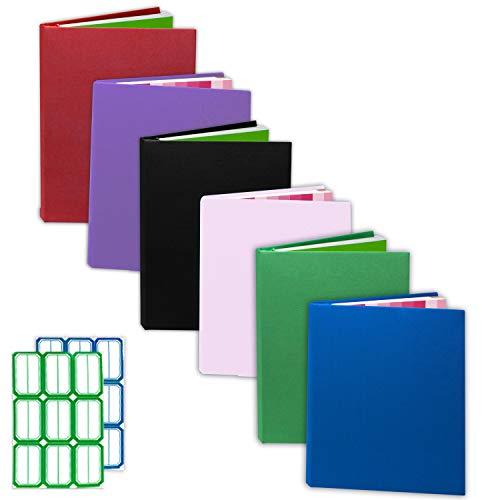 Kraftex Cubiertas de Libros [Paquete de 6] Cubiertas para Libros de Tapa Dura, Libros de Tapa Blanda, Cubiertas para Libros de Texto. Lavables, Duraderas con Etiquetas Adhesivas Gratis (Pequeño)