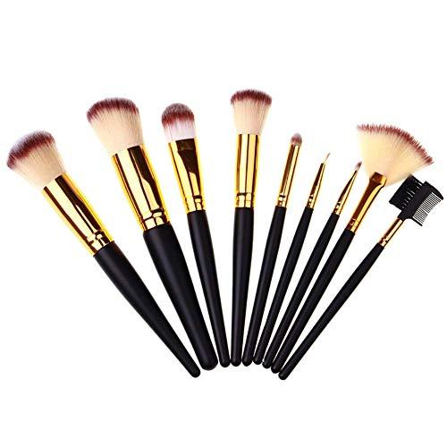 XdiseD9Xsmao Fard à Paupières Fard à Joues Durable Professionnel Fond De Poudre Brosses Multifonctions Portables Maquillage Maquillage 9pcs / Set