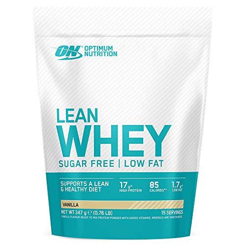 OPTIMUM NUTRITION Lean Whey, Proteínas en Polvo Sin Azúcar con Vitaminas y Minerales, Bajo en Grasas, Vainilla, 15 Porciones, 347 g, el Envase Puede Variar