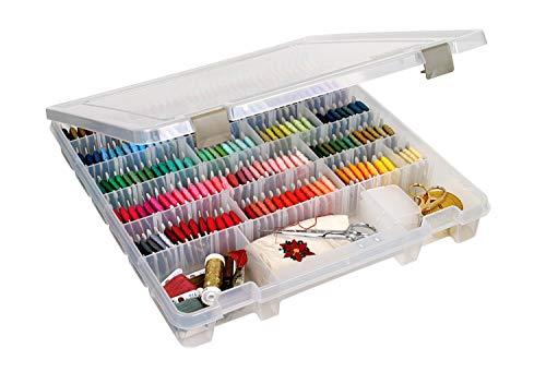 ArtBin 9101AB Super Satchel Slim with Removable Dividers, Art & Craft Organizer, [1] Plastic Storage Case, Clear