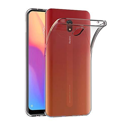 AICEK Hülle Compatible für Xiaomi Redmi 8A Transparent Silikon Schutzhülle für Xiaomi Redmi 8A Hülle Clear Durchsichtige TPU Bumper Xiaomi Redmi 8A Handyhülle (6,2 Zoll)