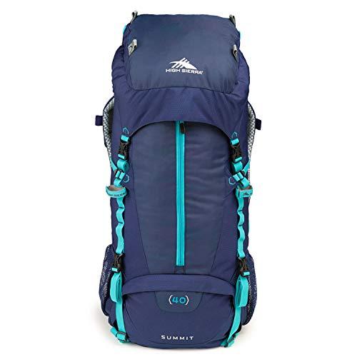 High Sierra Summit Top Load Internal Frame Pack, True Navy/True Navy/TropTeal, 40L