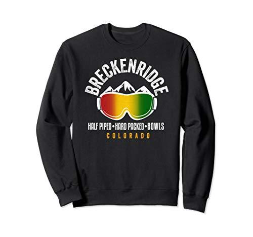 Breckenridge Rasta Reggae Colorado Ski and Snowboard Goggles Sweatshirt