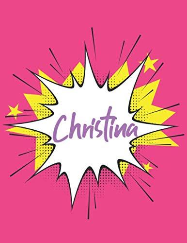 Christina: Sketch Book, Skizzenbuch für Christina, Skizzenbuch, blanko buch weiß, Skizzenblock , 120 Seiten, 8.5x11 Geschenk für Christina