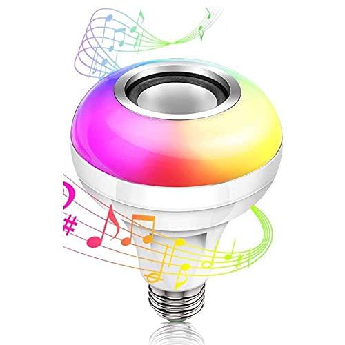 Bombilla de luz LED para música, bombilla led con altavoz Bluetooth Lámpara de color RGB cambiante con control remoto para el hogar, dormitorio, sala de estar, decoración de fiesta Se necesita control