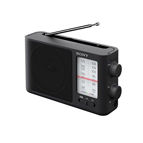 Sony ICF-506 Analog Tuning Portable FM/AM Radio, Black, 2.14 lb