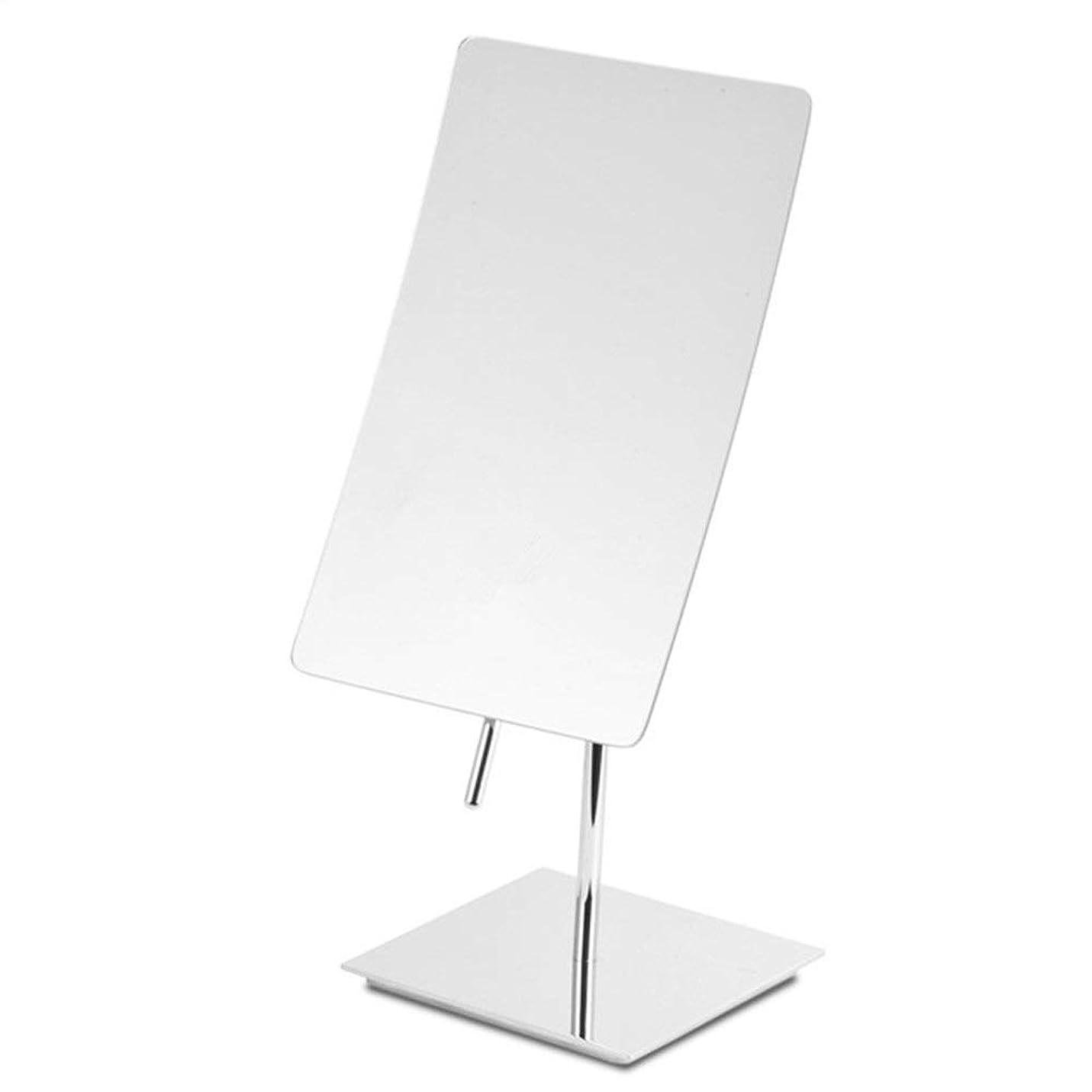彼女自身報告書ポスト印象派化粧鏡 360°回転ダブルギフトメイクアップミラー3倍拡大鏡(シルバー)用スタンドに最適でバニティミラー化粧鏡を両面 収納しやすい (色 : 銀, サイズ : 5.5in)