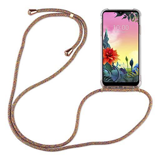 betterfon | LG K50S Handykette Smartphone Halskette Hülle mit Band - Schnur mit Hülle zum umhängen Handyhülle mit Kordel zum Umhängen für LG K50S Rainbow
