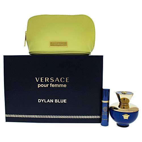 Versace Pour Femme Dylan Blue presentset (100 ml Eau de Parfum + 10 ml Eau de Parfum + väska)