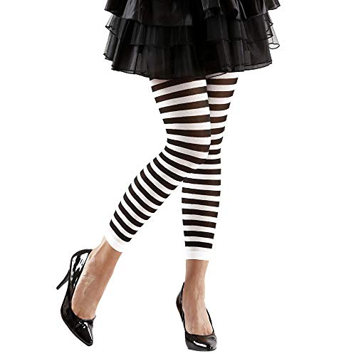gestreifte leggings schwarz weiss