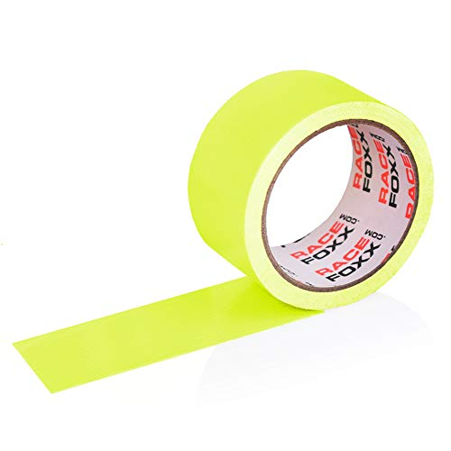 Gaffa/Gaffer Tape, Gewebeklebeband, Lasso, Panzertape, Klebeband, Kleber, neon gelb, RACEFOXX