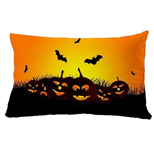 jieGorge 30*50cm Halloween Square Pillow Cover Cushion Case Pillowcase Zipper Closure , Pillow Case for Halloween Day (F)