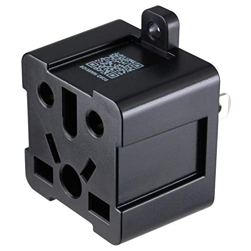 ROAD WARRIOR US Travel Plug Adapter 13A - Convert Europe/UK/Australia/China/India to USA (Type A) - RW125BK-US