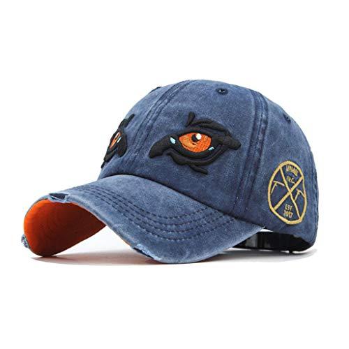 DOLDOA Hut Damen Sommer,Unisex-Outdoor-Baumwolle Hochwertige bestickte Unisex-Baseballmützen einstellbar (Marine)