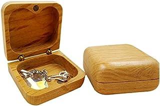 ILH Bague en Bois Portable Boîte À Bijoux Boucles d'oreilles Collier Boîte De Bague Clou Boîte De Rangement Boîte À Bijoux...