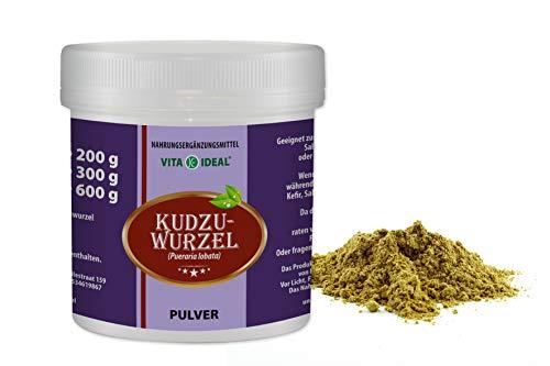 VITAIDEAL ® Kudzu-Wurzel PULVER 300g (Pueraria lobata) + Messlöffel von NEZ-Diskounter