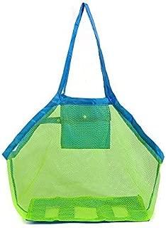 収納袋 水遊び  特大 おもちゃ 収納バッグ ビーチバッグ メッシュバッグ 大容量 ビーチボール収納 おもちゃ入れ 1個セット (青2)