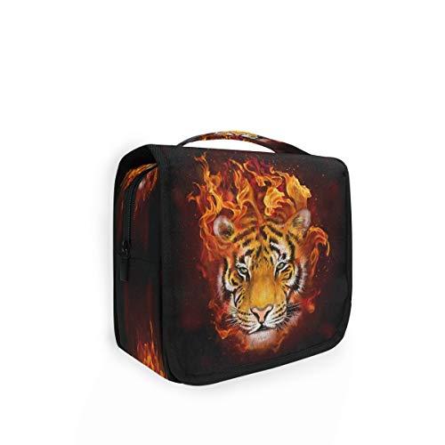 RXYY Sac de toilette pliable pour les voyages avec motif tigre et animal
