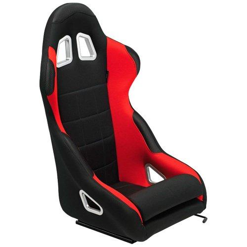 Autostyle SS08-JR sportstoel 'K5' -zwart/rood vaste rugleuning incl. slee