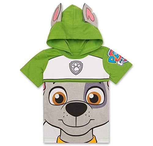 Nickelodeon PAW Patrol Hooded Shirt: Chase, Marshall, Rocky, Rubble, Zuma - Boys (Green Rocky, 3T)