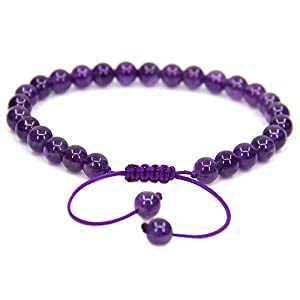 Handmade Gemstone 6mm Round Chrysoprase Beads Adjustable Braided Macrame Tassels Chakra Reiki Bracelets 7-9 inch Unisex