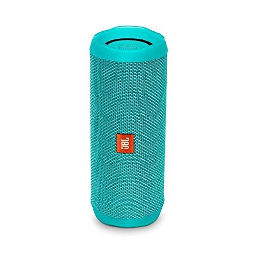 JBL Flip 4 - Altavoz inalámbrico portátil con Bluetooth, parlante resistente al agua (IPX7), JBL Connect+, hasta 12 h de reproducción con sonido de alta fidelidad, turquesa
