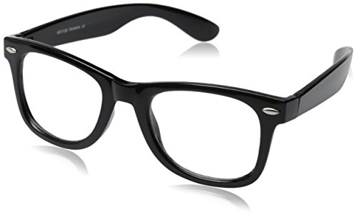 Retro Horn Rimmed Black Glasses