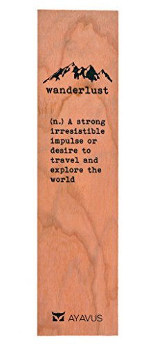 Wood Bookmark Wanderlust Travel Wooden Bookmark Traveling Gifts Hipster Quotes Made in USA