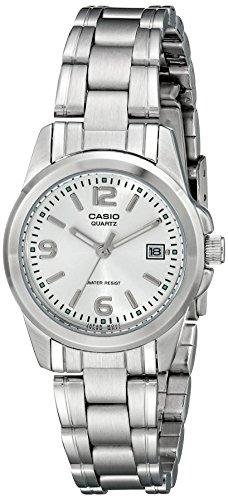 Reloj Casio Analógico para Mujer, pulsera de Acero Inoxidable