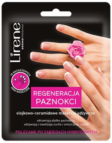 Lirene olejkowo-ceramidowe maseczki odżywcze REGENERACJA PAZNOKCI