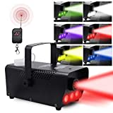 ATDAWN Fog Machine with Lights, Wireless Remote Control, Smoke Machine with 7 Colors Light...
