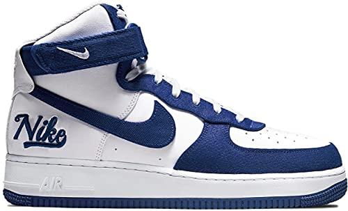 Nike Air Force 1 High '07 EMB, Zapatillas Deportivas Hombre, White Rush Blue Rush Blue White, 47 EU