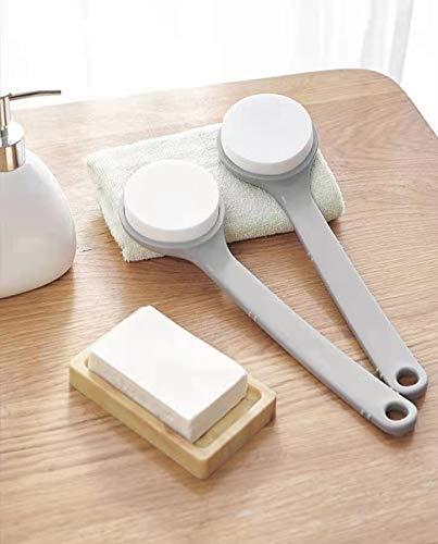 Bath Sponge Brush(1 Pack) - Zerdie Long Handle Bath Sponge Brush, Body Brush, Lotion Applicator, Back Scrubber, Extended Reacher Cleaning Aid
