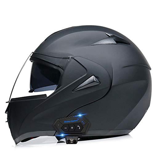 TTFGG Casco integral para motocicleta, inalámbrico, modular, locomotora de motocicleta, casco de carreras, para adultos, hombres y mujeres, certificado DOT, D, L