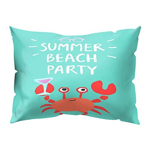 Print Pillow Case Polyester Sofa Car Cushion Cover Home Decor 30 X 50cm, Home Decor Sales,for Halloween Day (I)