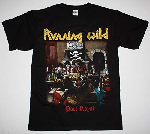 Running Wild Port Royal X-Wild Grave Digger Rage Helloween Black T-Shirt