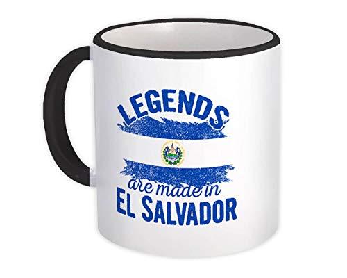 Las leyendas se hacen en El Salvador : Taza de Regalo : Marcar País de expatriados salvadoreños