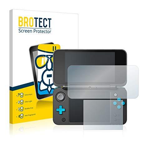 BROTECT Panzerglas Schutzfolie kompatibel mit New Nintendo 2DS XL - 9H Extrem Kratzfest, Anti-Fingerprint, Ultra-Transparent