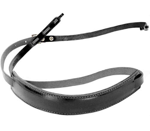 [ラフィカロ] イタリアンレザー 本革 カメラストラップ サイズ調整可能 一眼レフ ミラーレス メンズ レディース ブラック