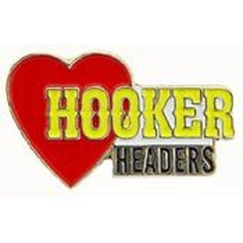 1968 HOOKER HEADERS Vintage Look Replica Metal Sign THE HOOKER HEADER WITH HEART