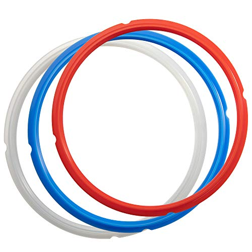 Goldlion Sealing Ring Compatible with Ninja Foodi 5 Quart 6.5 Quart and 8 Quart Silicone Gasket Accessories Rubber Sealer Replacement for Pressure Cooker and Air Fryer, Pack of 3