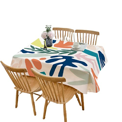 CCBAO Efecto 3D-Poliéster Impermeable Rectangular Mantel De Cocina-Mantel De Decoración De Mesa De Café-Adecuado para Restaurante Interior Exterior Picnic Jardín Escritorio 140x140cm